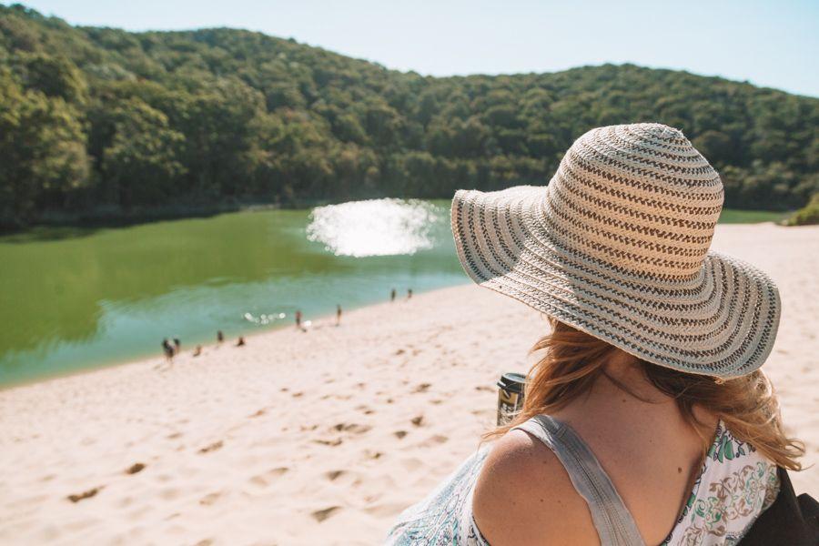 Lake Wabby Fraser Island Australia Sand Dune