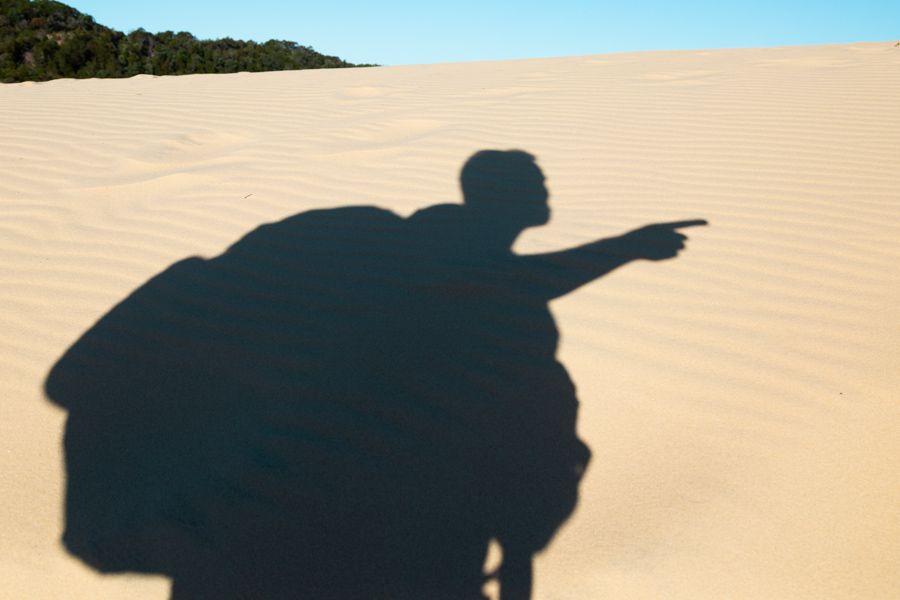 Carlo Sand Blow Fraser Island Shadow