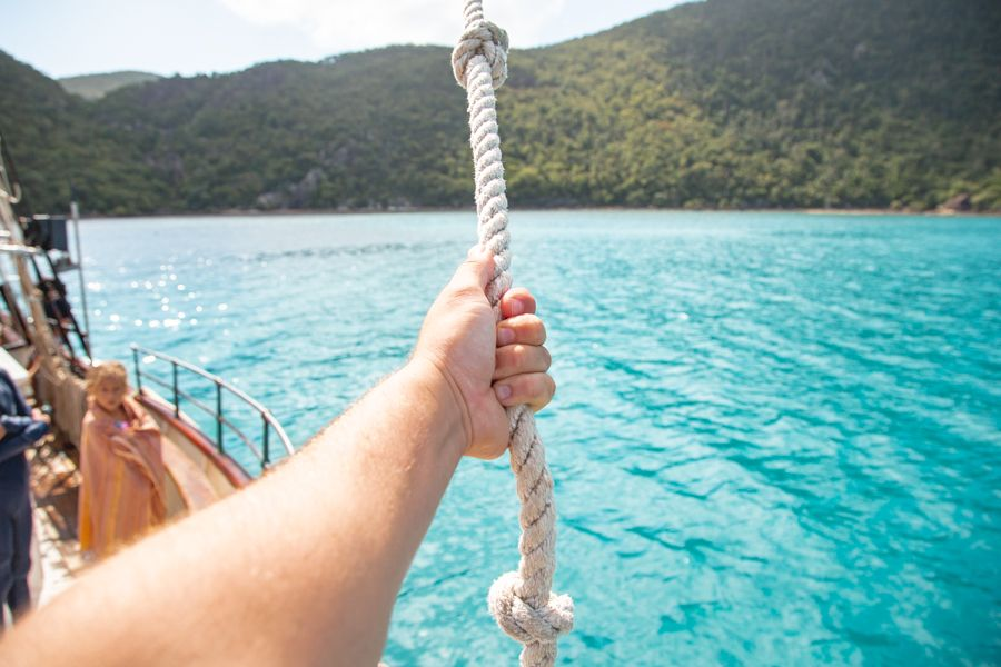 Solway Lass Rope Swing Whitsundays