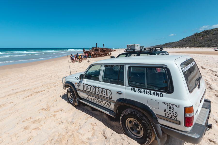 Drop Bear Adventures at SS Maheno shipwreck on Fraser Island