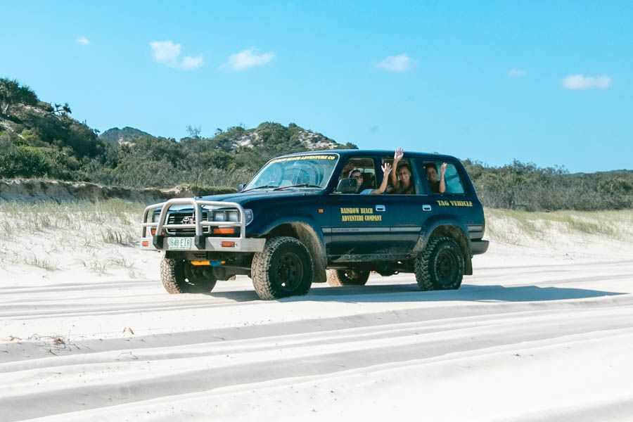 Driving on tracks fraser island 75 mile beach