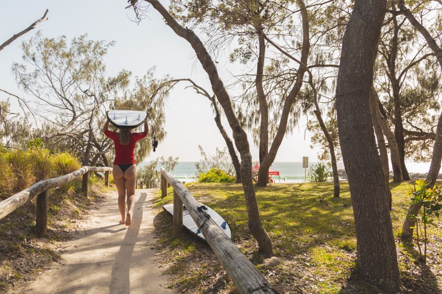 Learning to Surf in Noosa, Queensland Australia