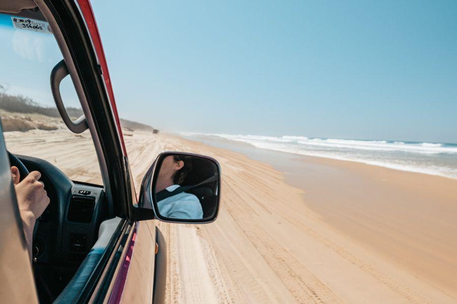 4wd, 75 mile beach, fraser island, australia