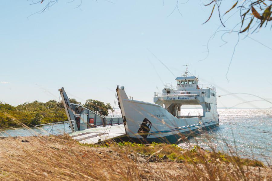 barge, fraser island, Australia