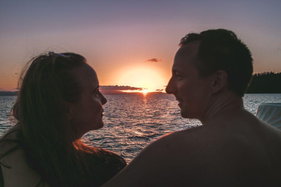 sunset, whitsundays