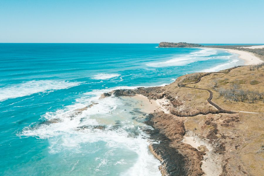 wady point, champagne pools, fraser island