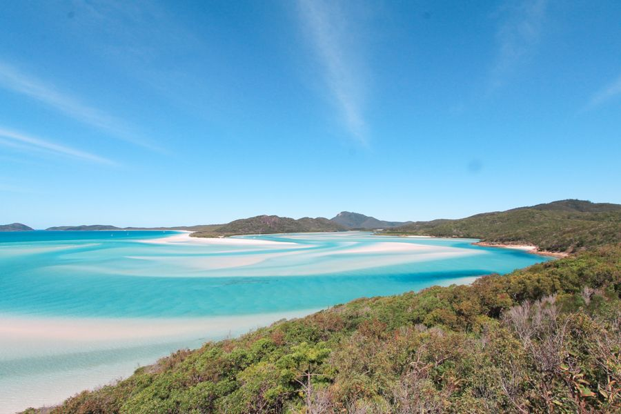 Whitehaven Beach, Hill Inlet Lookout, Whitsundays Australia