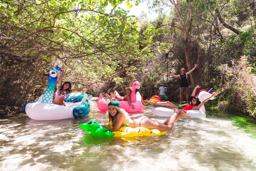 floaties, eli creek, fraser island