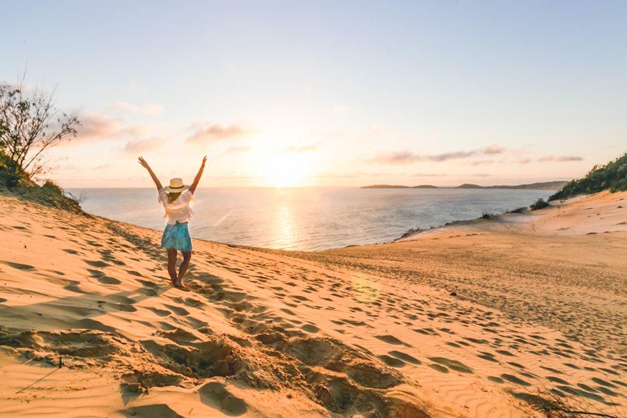 carlo sand blow, fraser island, australia