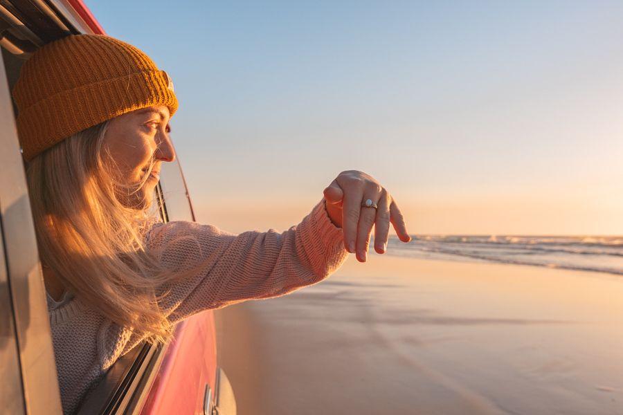sunrise, fraser island, australia