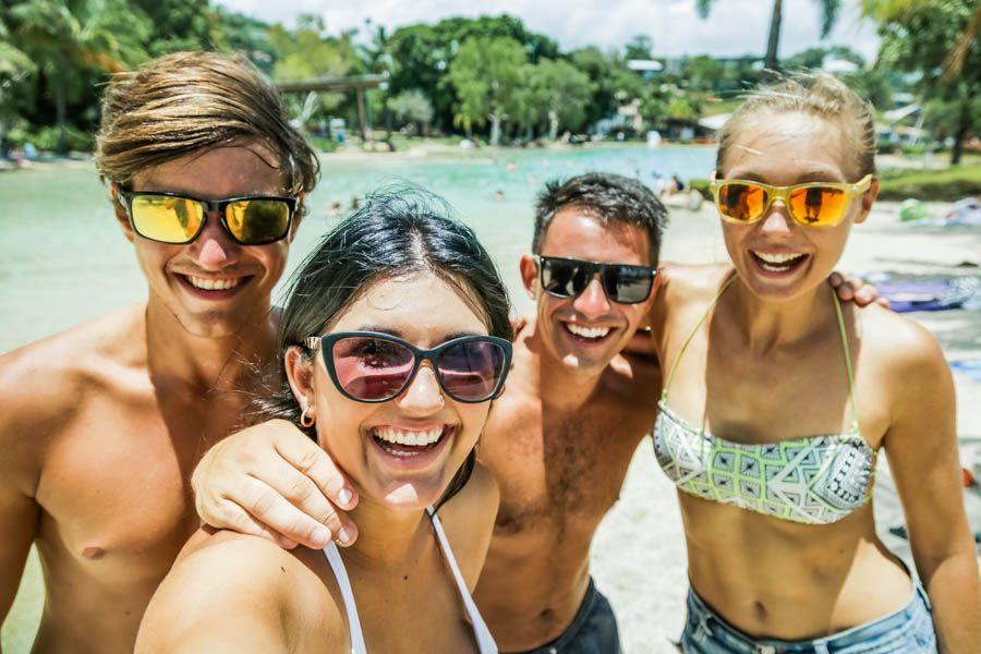 Airlie Beach Lagoon Selfie