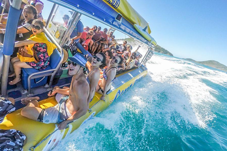 ocean rafting day boat