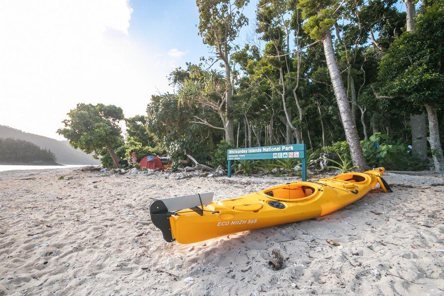 kayak on whitsunday island
