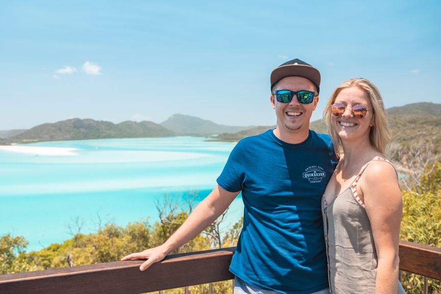 couple at hill inlet lookout