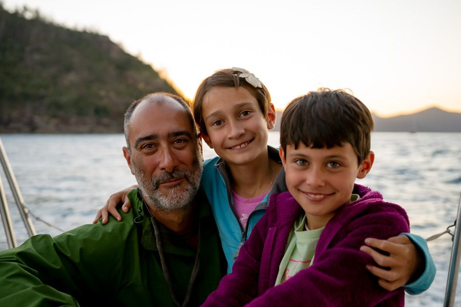 family on adventurer, whitsudnays