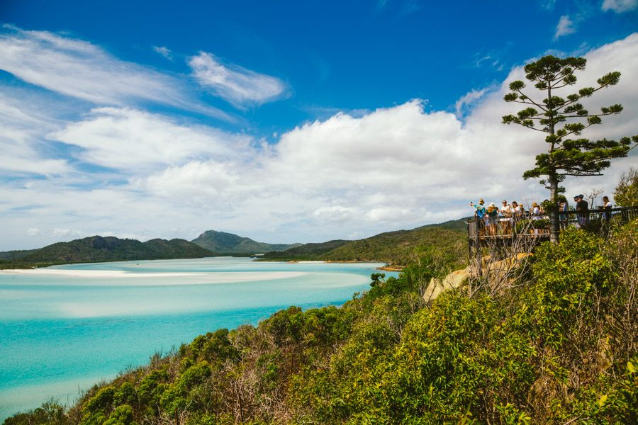 The exquisite swirling sands visible from the top of the Hill Inlet Lookout walk on Whitsunday Island