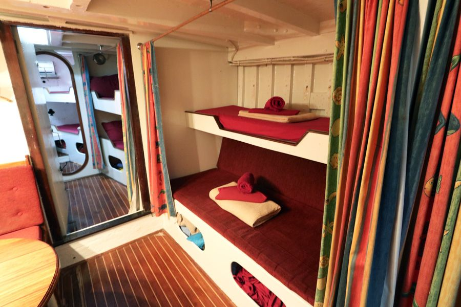 Summertime shared accommodation bunks, Whitsundays