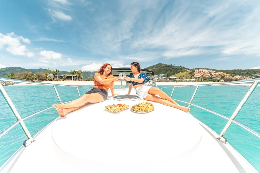 Salty Private Charter Sunny with a Platter in the Whitsunday Islands