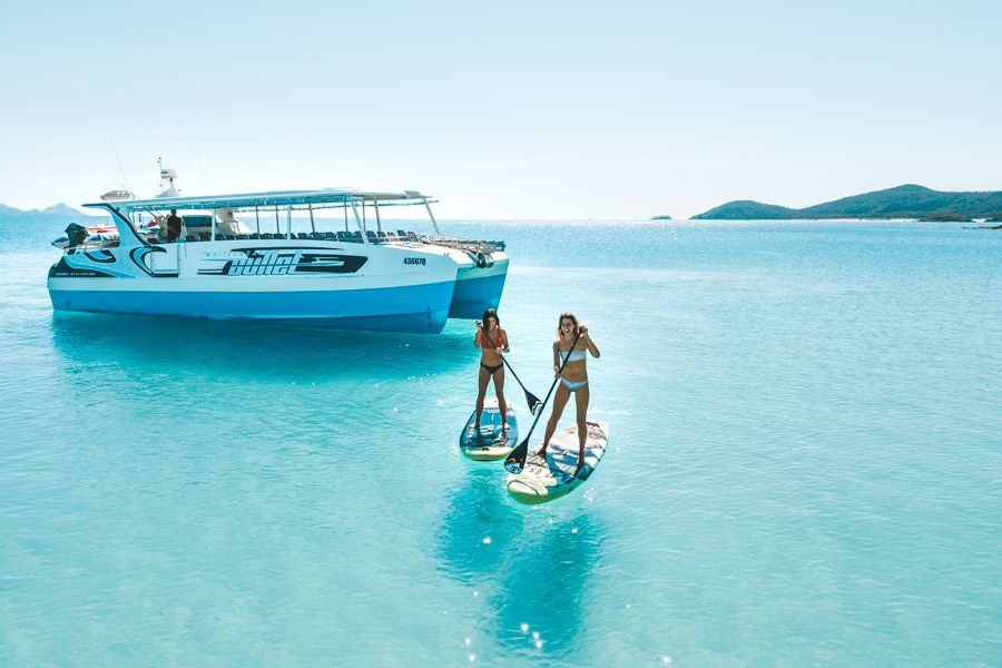 Whitsunday Bullet Day Tour stand-up paddleboarding in the Whitsundays
