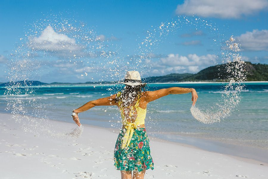 Lets get sandy on Whitehaven Beach, play on Whitsunday Island