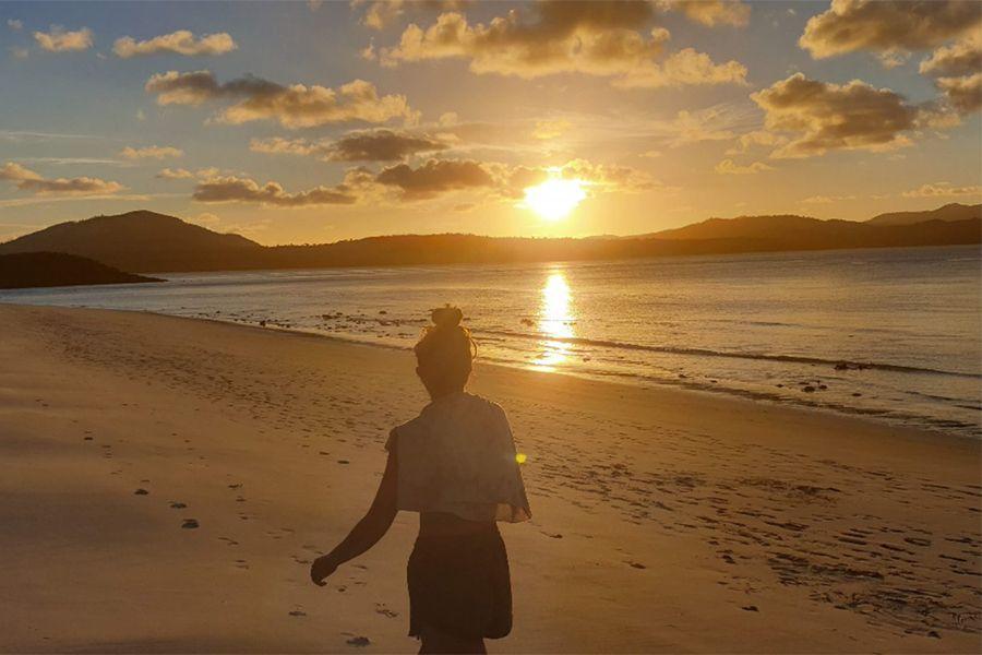 Mindful Sunset at Whitehaven Beach, Whitsunday Island, Whitsunday Catamaran