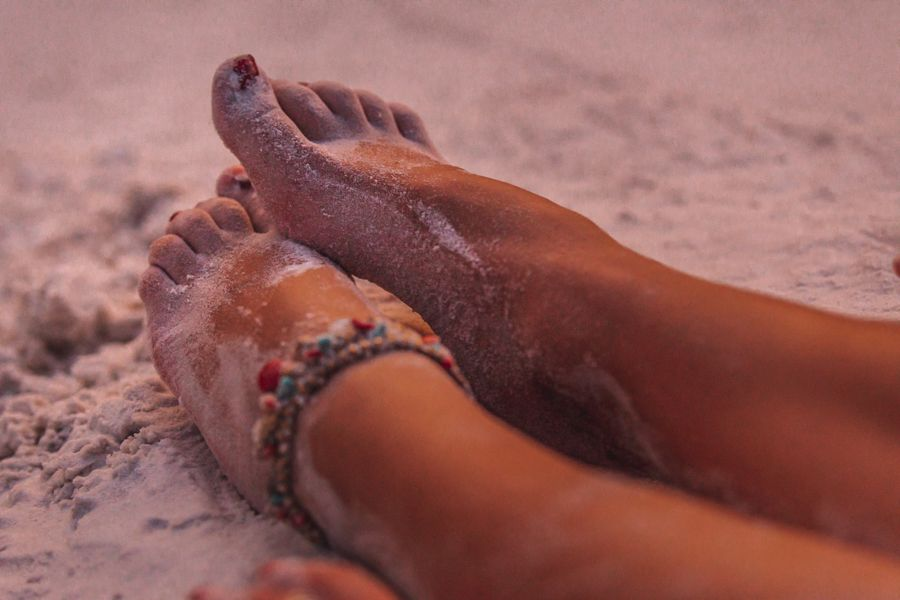 Whitehaven's Silica sand is great for barefoot walks along Whitsunday Island