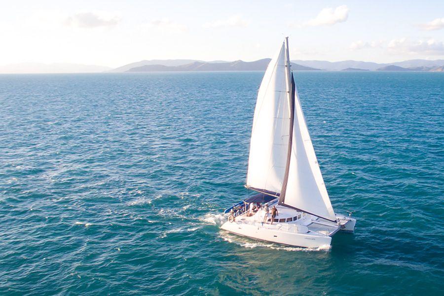 Whitsunday Blue Catamaran sailing the Whitsundays