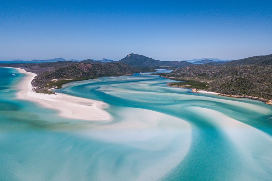 Hill Inlet Lookout Swirling sands