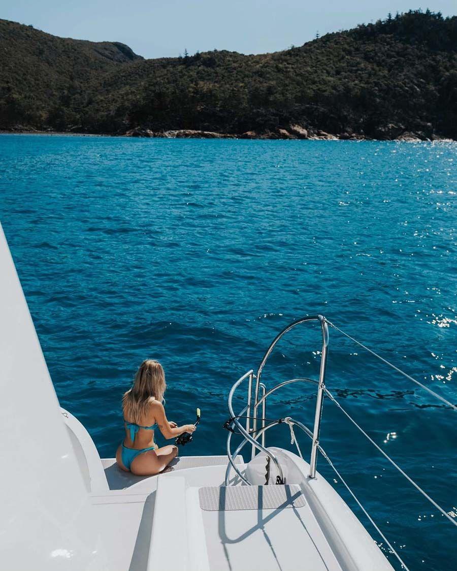 Instagram Whitsunday Islands Girl Snorkelling, Whitehaven Beach