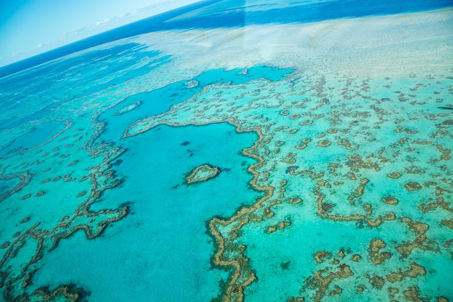The Great Barrier Reef drone, the Whitsundays