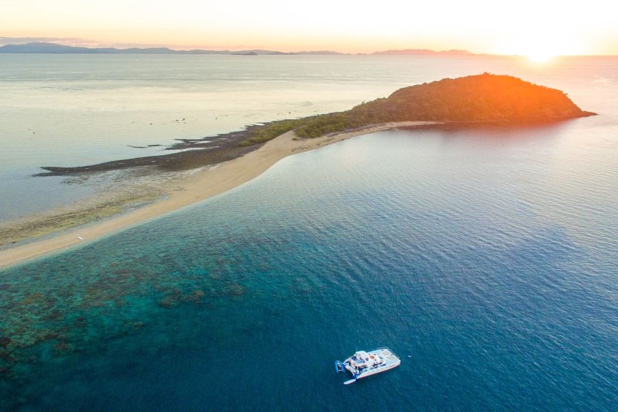 Langford Reef Ariel Shot in the Whitsunday Islands