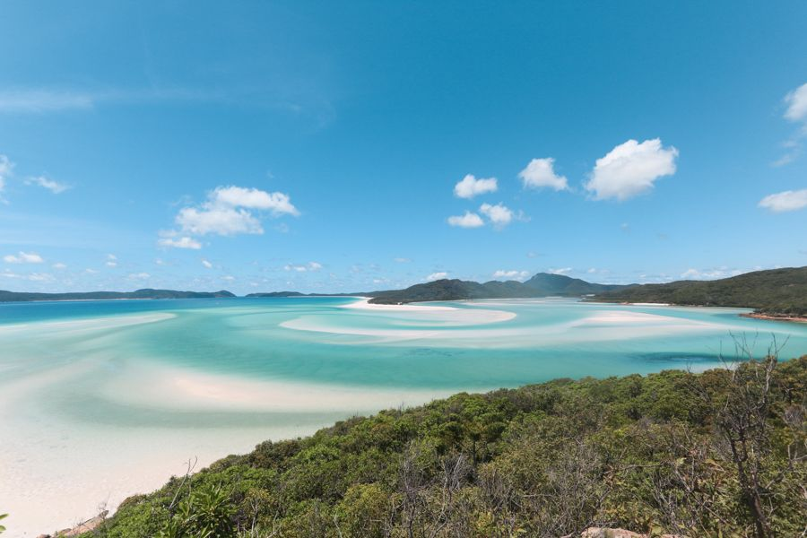 Hill Inlet Lookout, Whitsunday Islands lookout of swirling sands at Whitehaven Beach