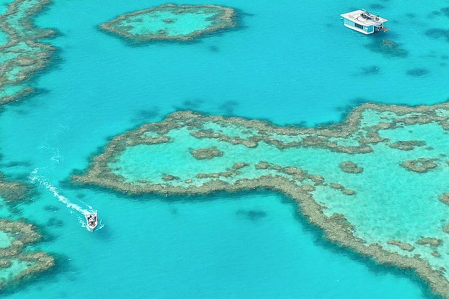 Adam Rikys Heart Reef Seaplane Tour drone in the Whitsundays Instagram