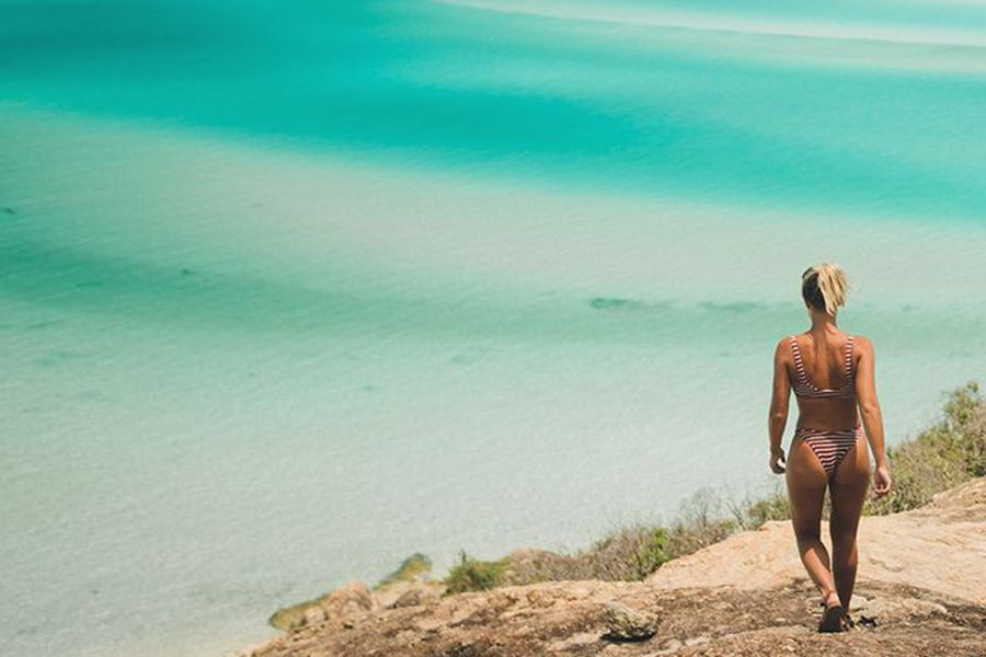 Mitch Cox and Cleo Cohen Instagram Influencers at Hill Inlet Lookout on Powerplay, Whitsundays