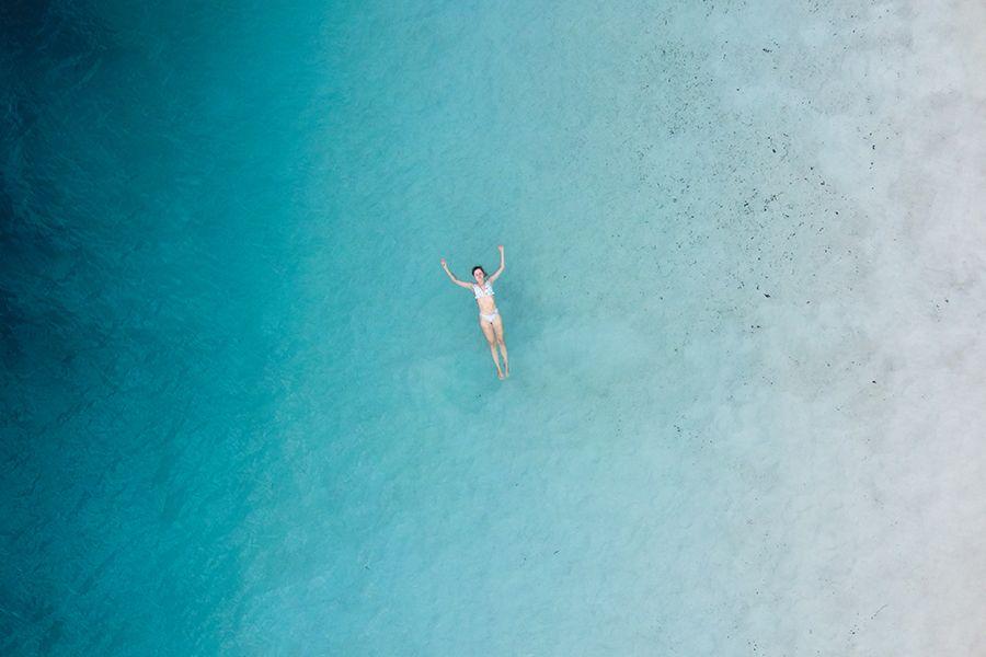 Fraser Island Lake Mackenzie Swim Tanya Mitchell Instagram Influencer