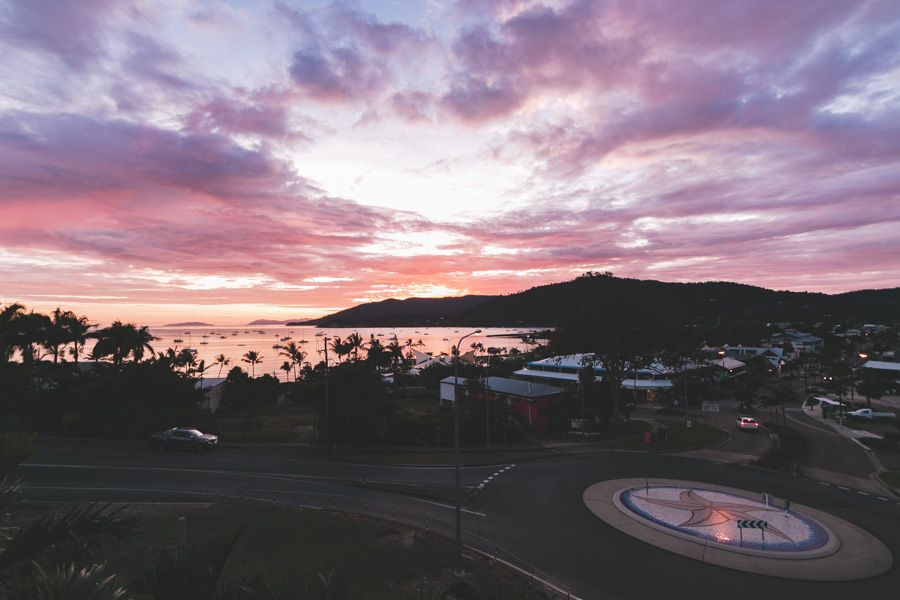Airlie Beach sunset town nightlife food hub famous