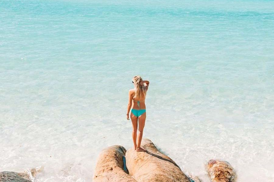 Betty's Beach deserted beach Whitsunday Island, Whitehaven Beach, tropical paradise hidden gems