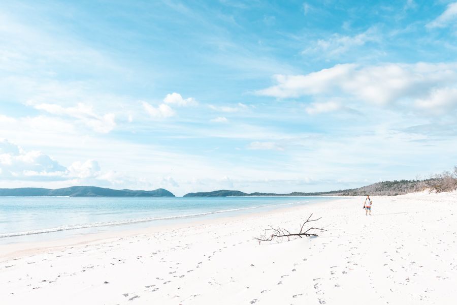Famous Whitehaven sands silica Whitsunday Island