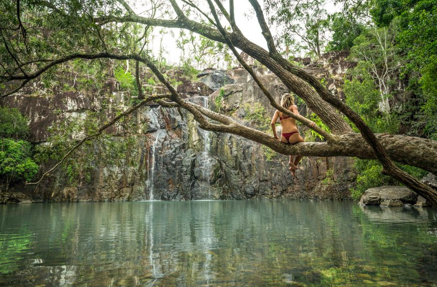 Cedar Creek Waterfall Free family-friendly activity Whitsundays