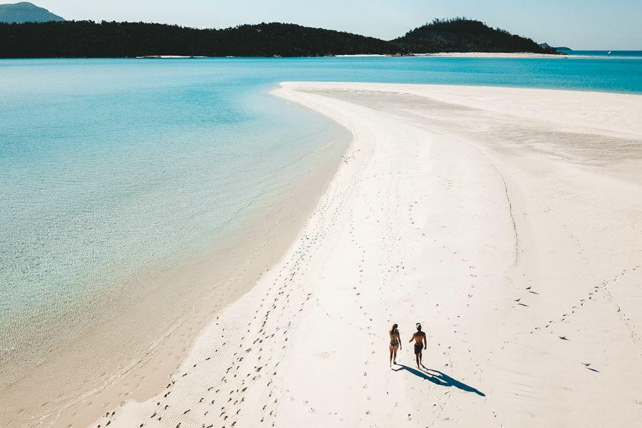 Deserted Whitehaven Beach Whitsundays