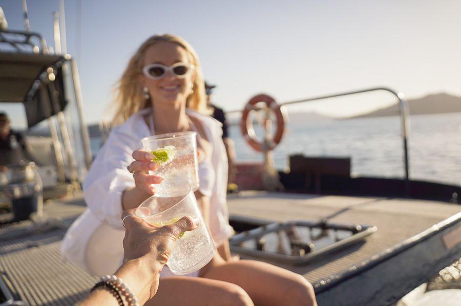 Influencer Sunset Cocktail Boat Whitsunday Sailing