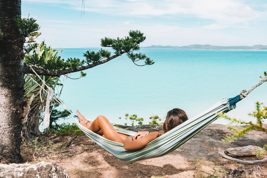whitehaven beach hammock  lookout
