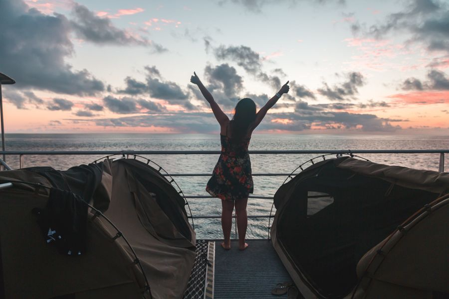 Reefsleep CW glamping under the stars in the Whitsunday Islands