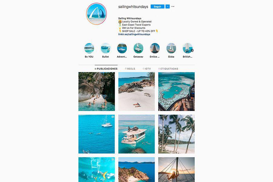 Sailing Whitsunday's Instagram profile