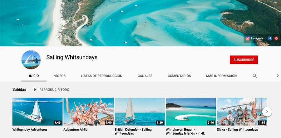 Sailing Whitsunday's YouTube profile