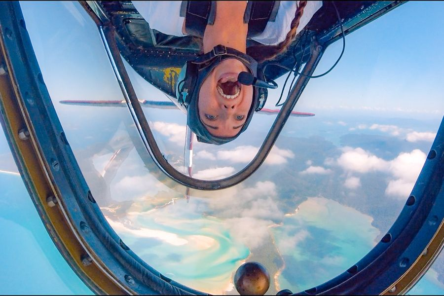 CQ Adventure Flights Whitehaven Beach and Screech Aerobatics Australia