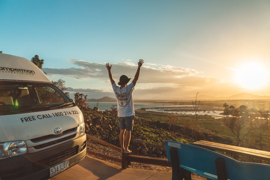 Sunset in Australia by Campervan