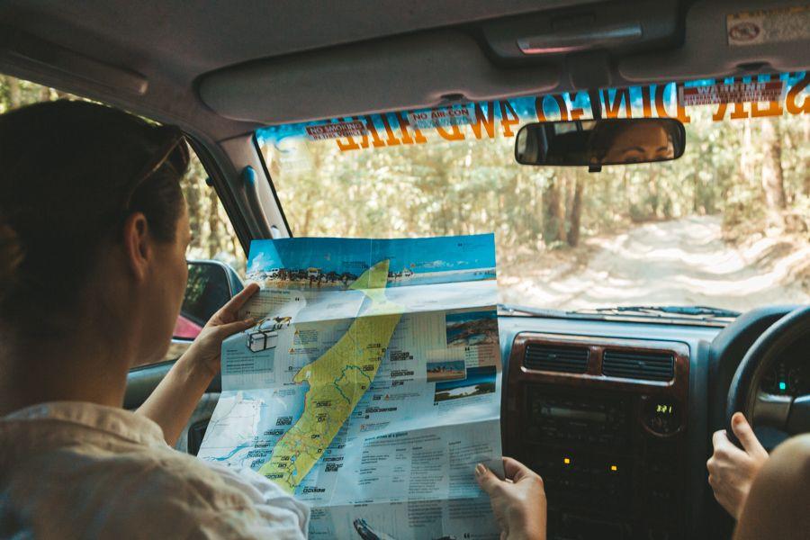 Navigating Fraser Island By Map