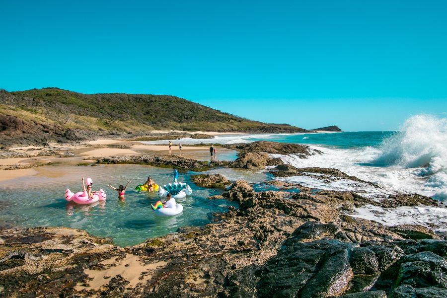 Champagne Pools, Fraser Island