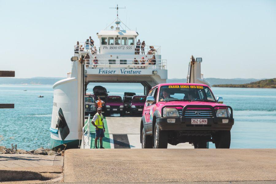 barge, fraser island